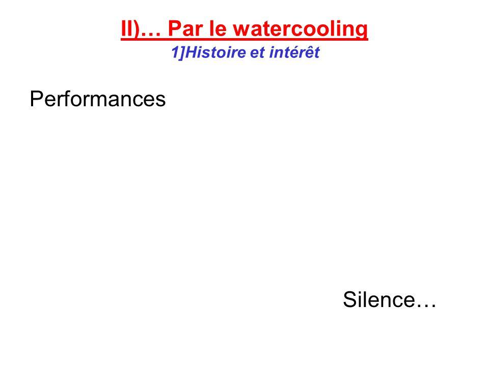 II)… Par le watercooling 1]Histoire et intérêt